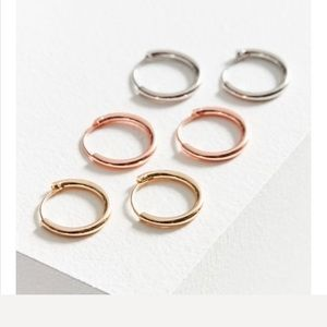 Urban micro hoop earring set
